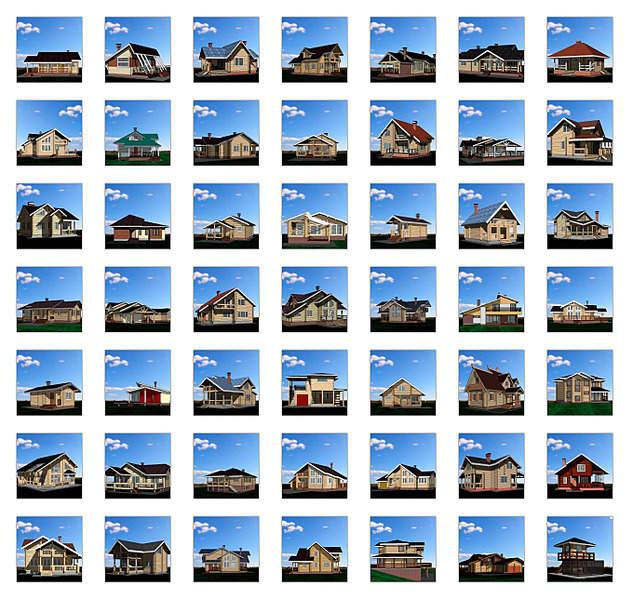 1359 X 1287 888.4 Kb ★Проектики деревянненьких и каркасненьких домиков -фоточки и картиночки внутри-мимими