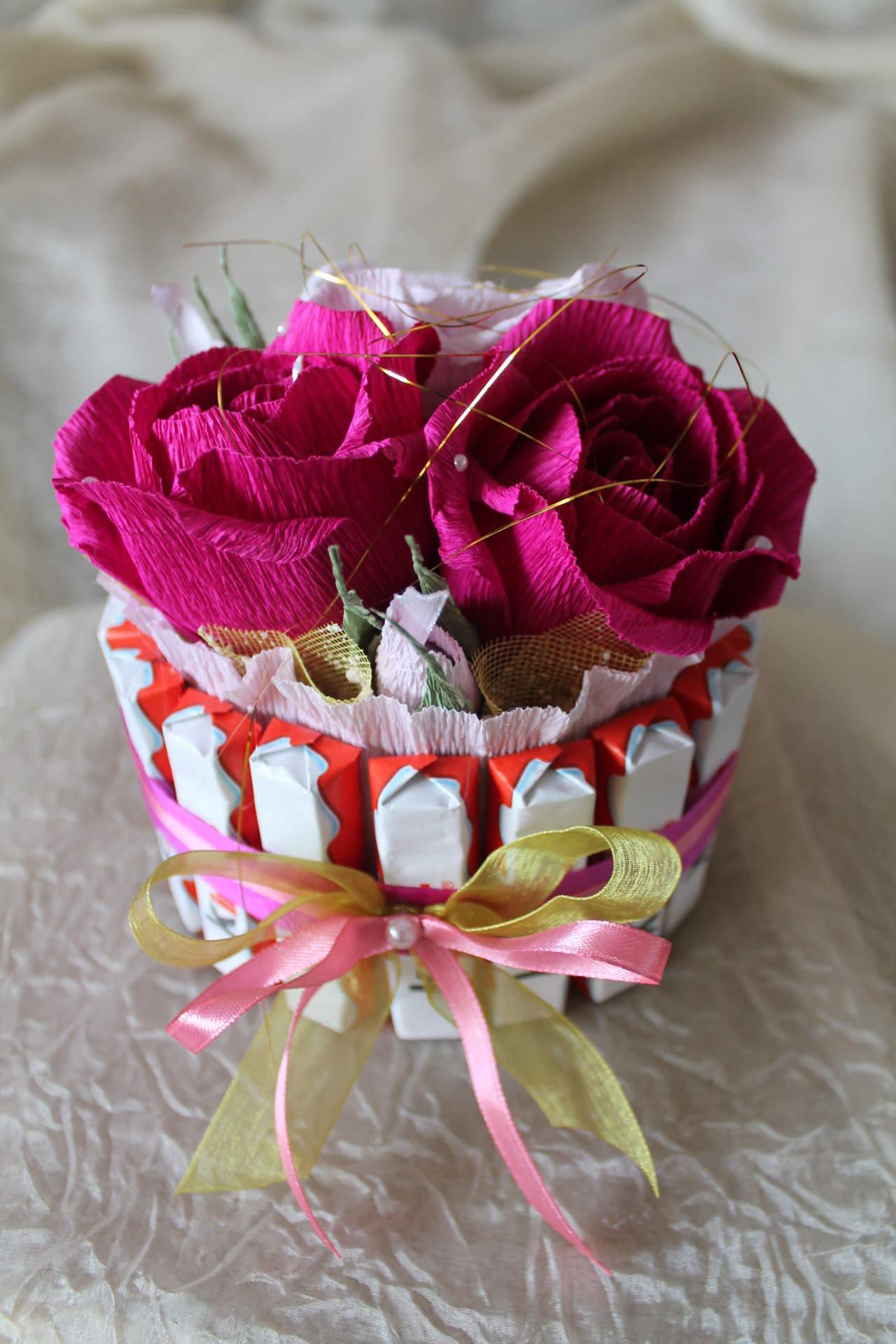 Поздравления к подарку торт из конфет