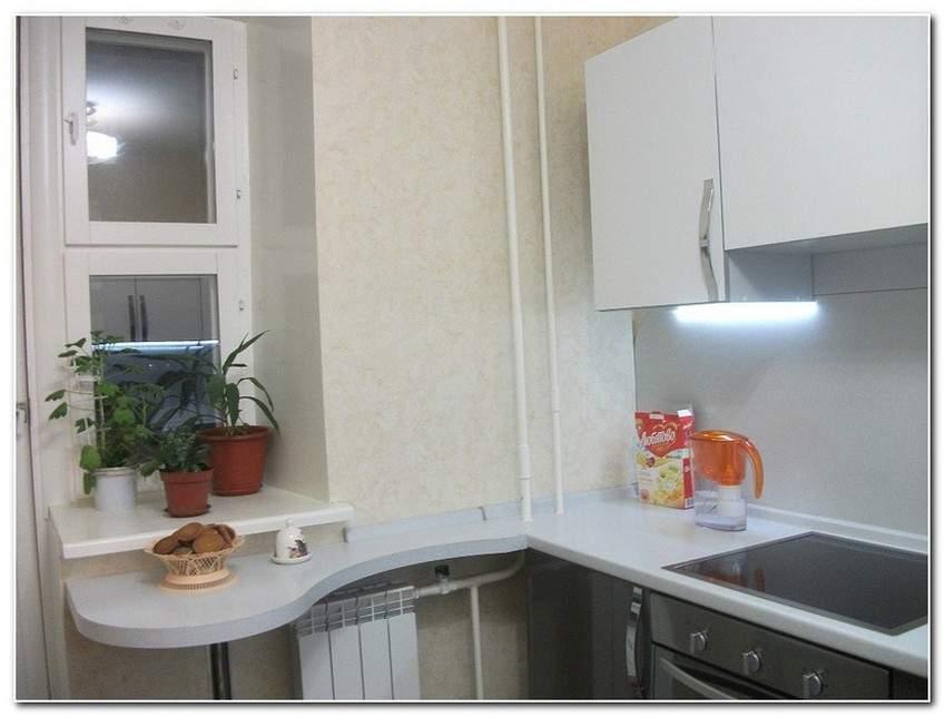 Мебель на кухню с лоджией. - профиль для пластиковых окон - .
