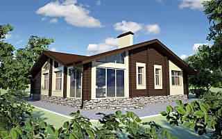 1280 X 800 217.4 Kb Проекты уютных загородных домов