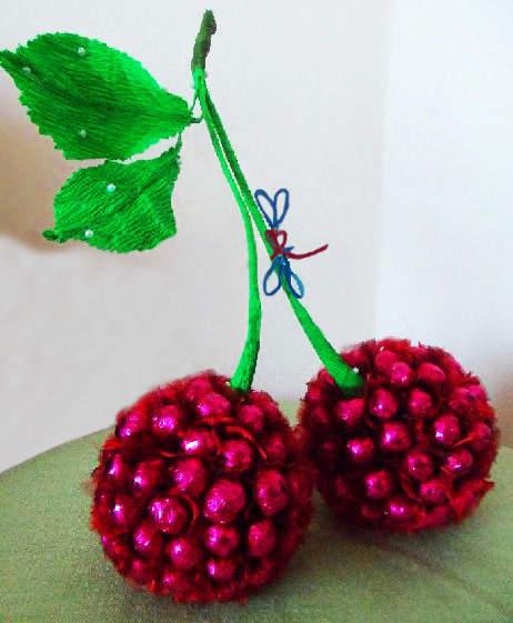 Как сделать фрукты из конфет мастер класс