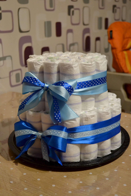 Торты из памперсов и пеленок своими руками