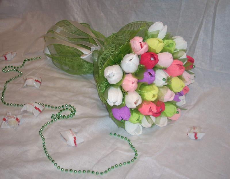 Букеты из конфет тюльпаны своими руками мастер класс