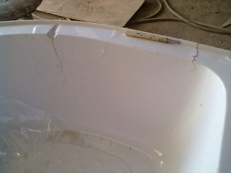 Акриловый поддон душевой кабины ремонт своими руками 5