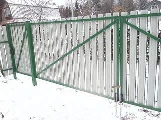 1920 X 1440 709.9 Kb забор профнастил, теплицы(фото работ)