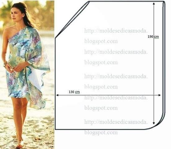 Простые пляжные платья сшитые