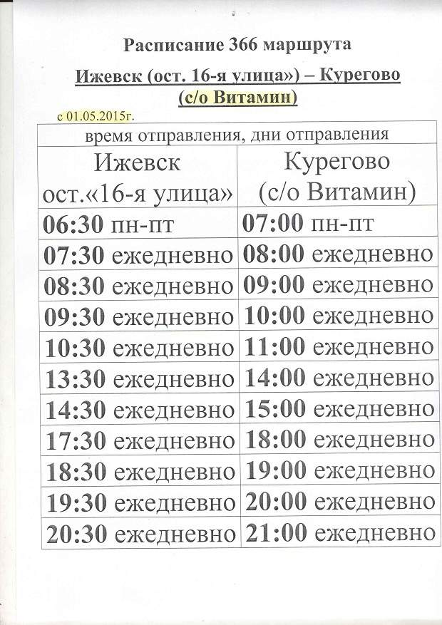 Kb маршрут N 366, Ижевск (