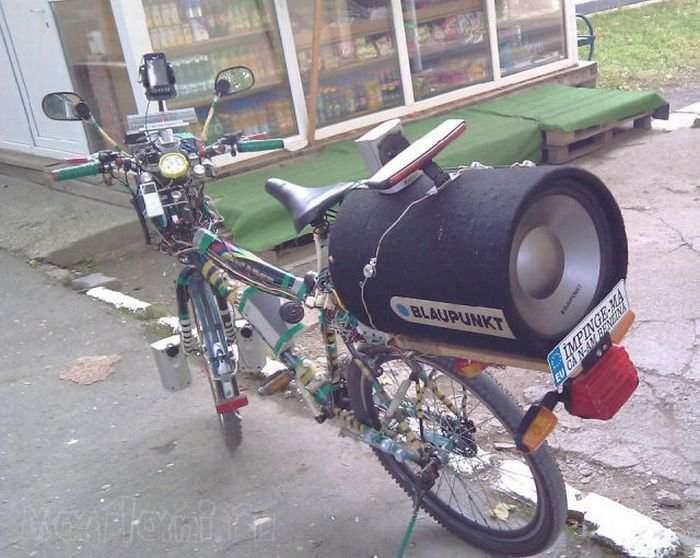 Музыка своими руками на велосипед