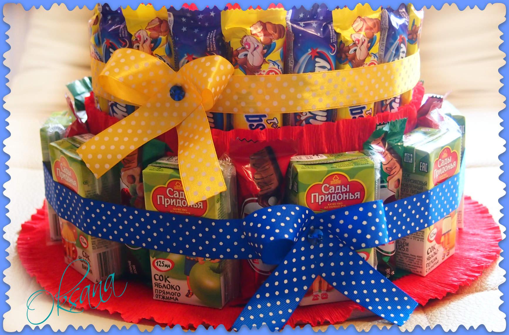 Торт из шоколадок и сока своими руками в детский сад 40