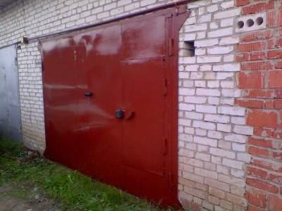 Покраска гаражных ворот своими руками 9