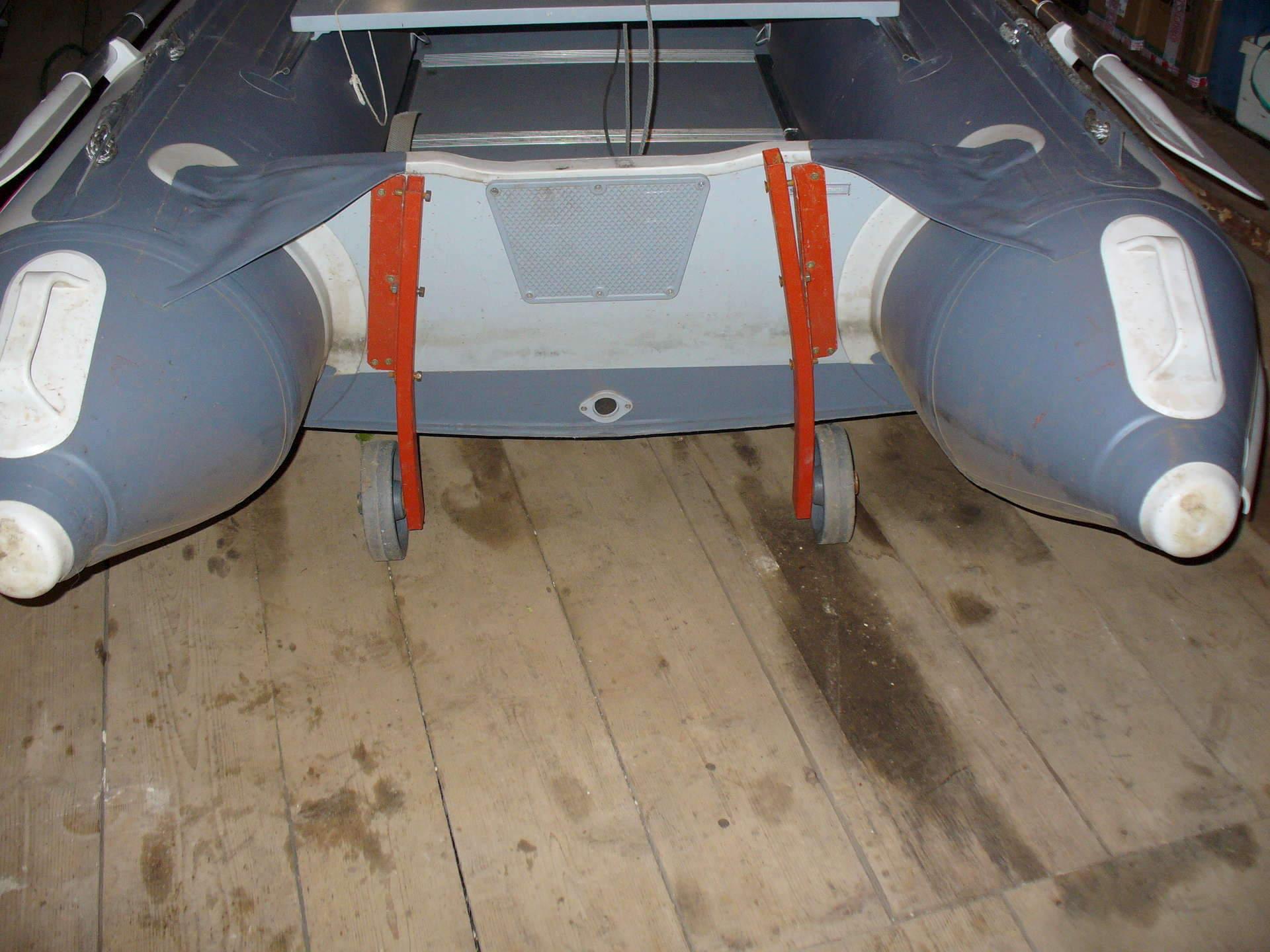 Транцевые колеса быстросъемные надувные (защелки, стандартное дно).