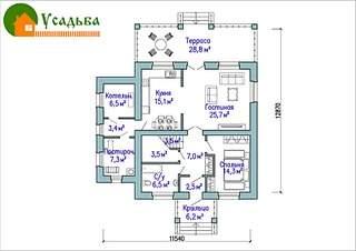 990 X 700 198.0 Kb Проекты уютных загородных домов