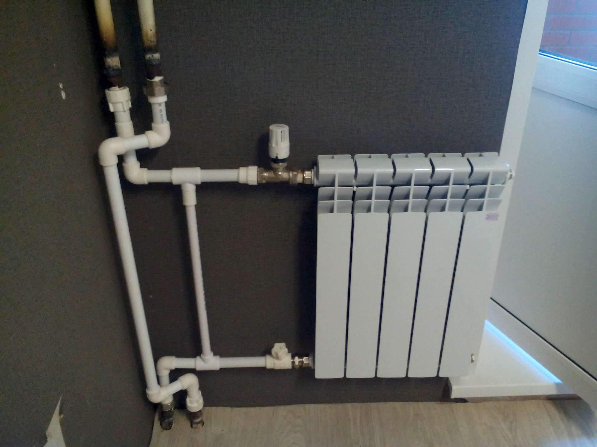 Замена батарей отопления в квартире своими руками Строй 35