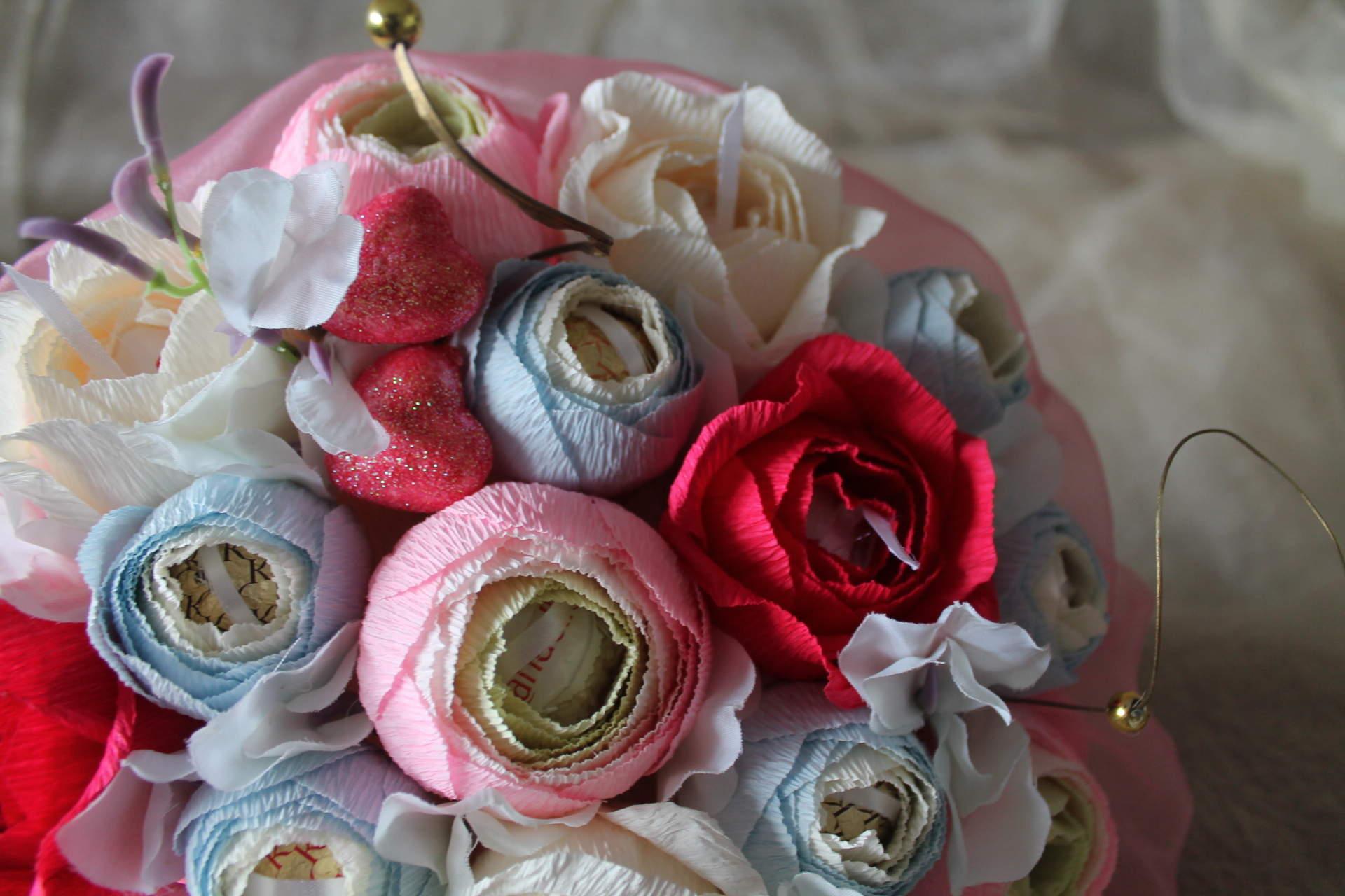 Букет на свадьбу из конфет