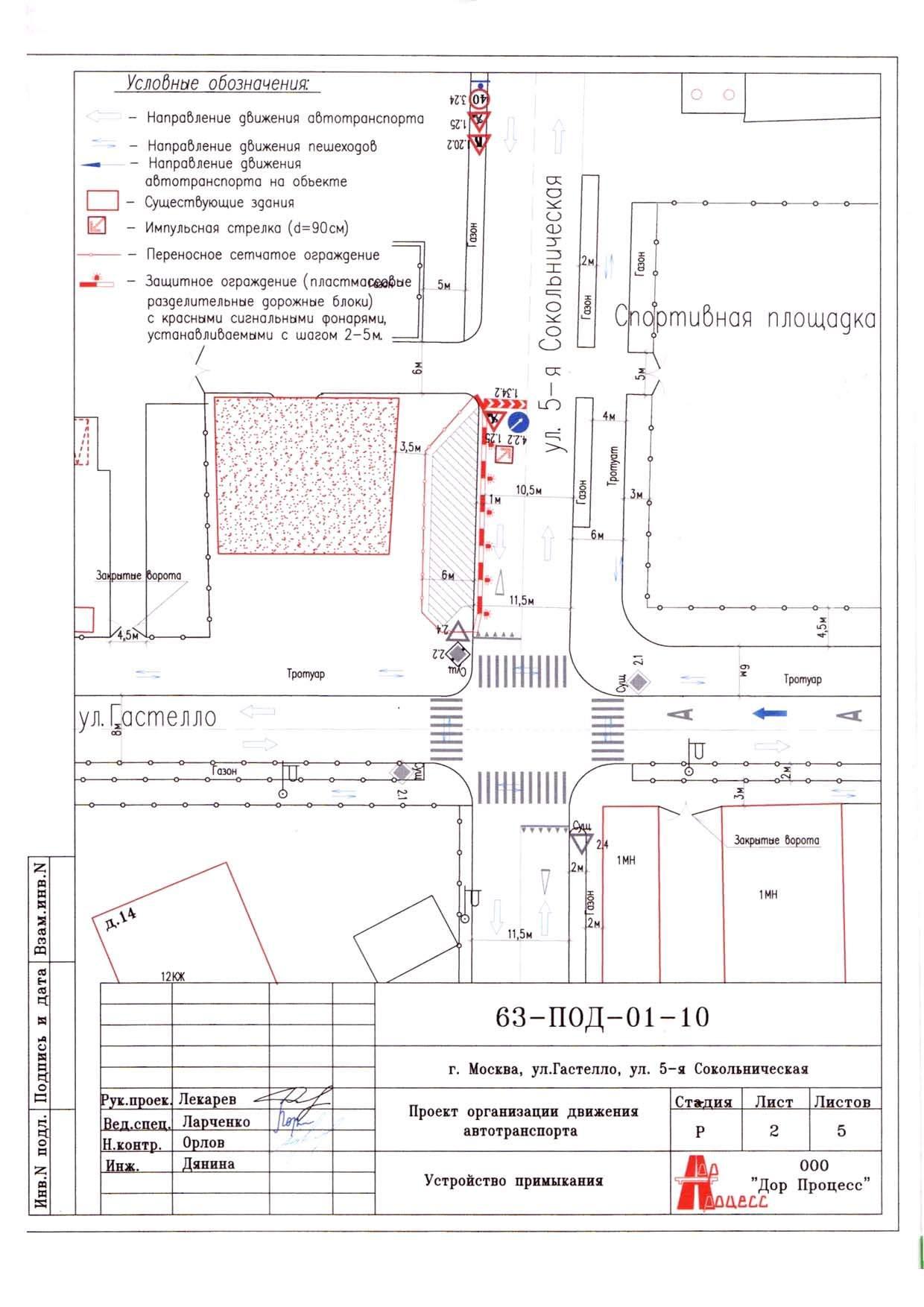 Схема организации дорожного движения образец автокад