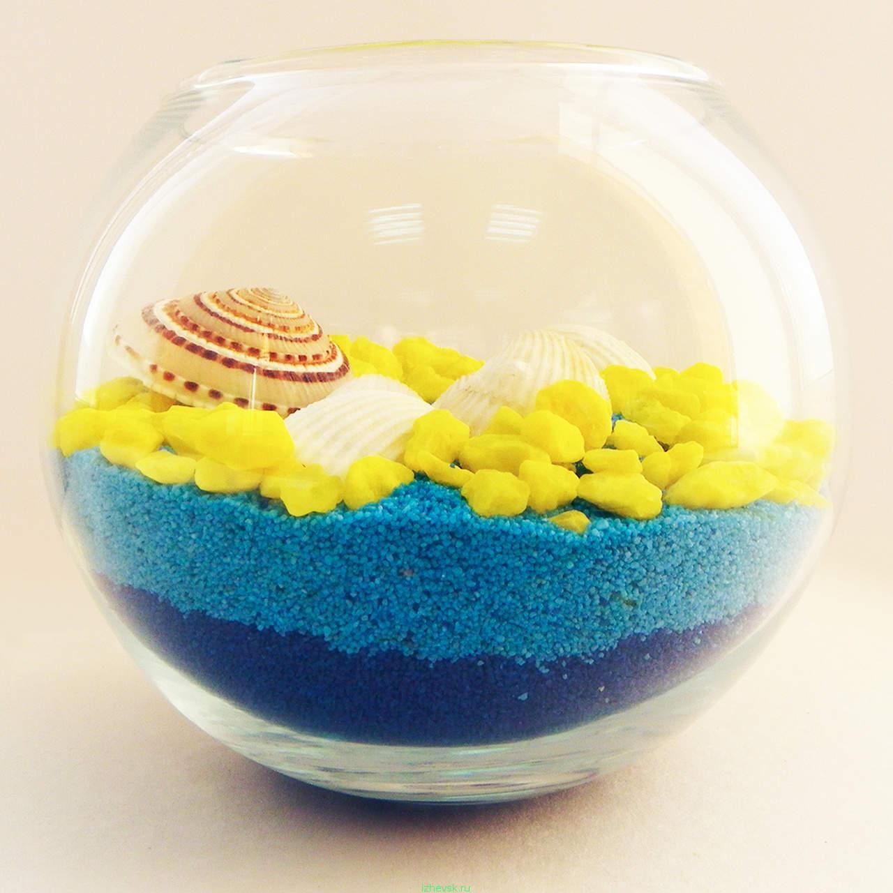 Декоративная бутылка с цветной солью или песком Декор своими руками из песка