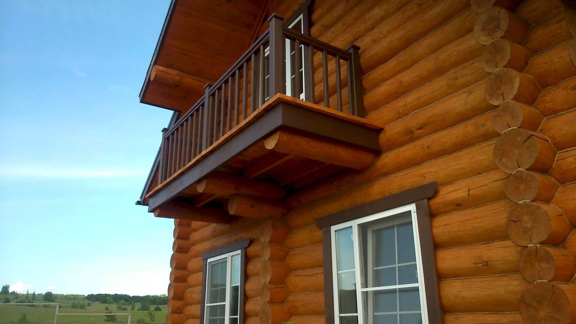 Деревянный балкон своими руками фото