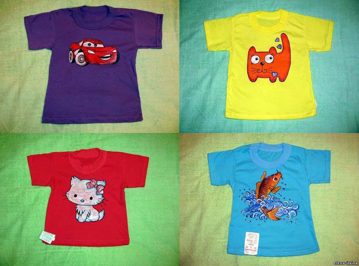 Детские футболки своими руками фото 16
