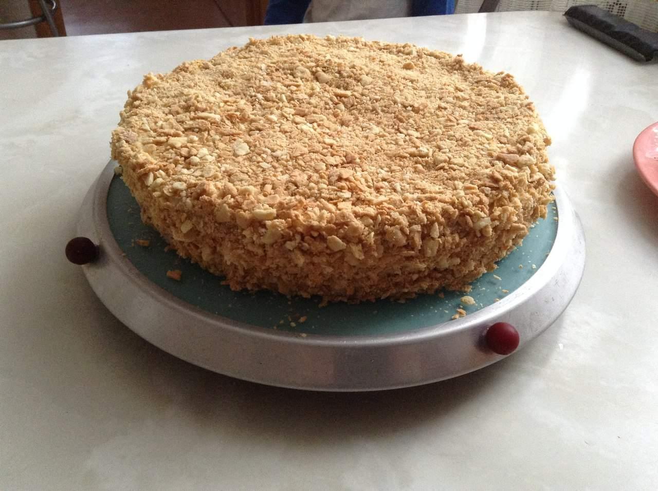 Торт наполеон с вареной сгущенкой пошаговое фото