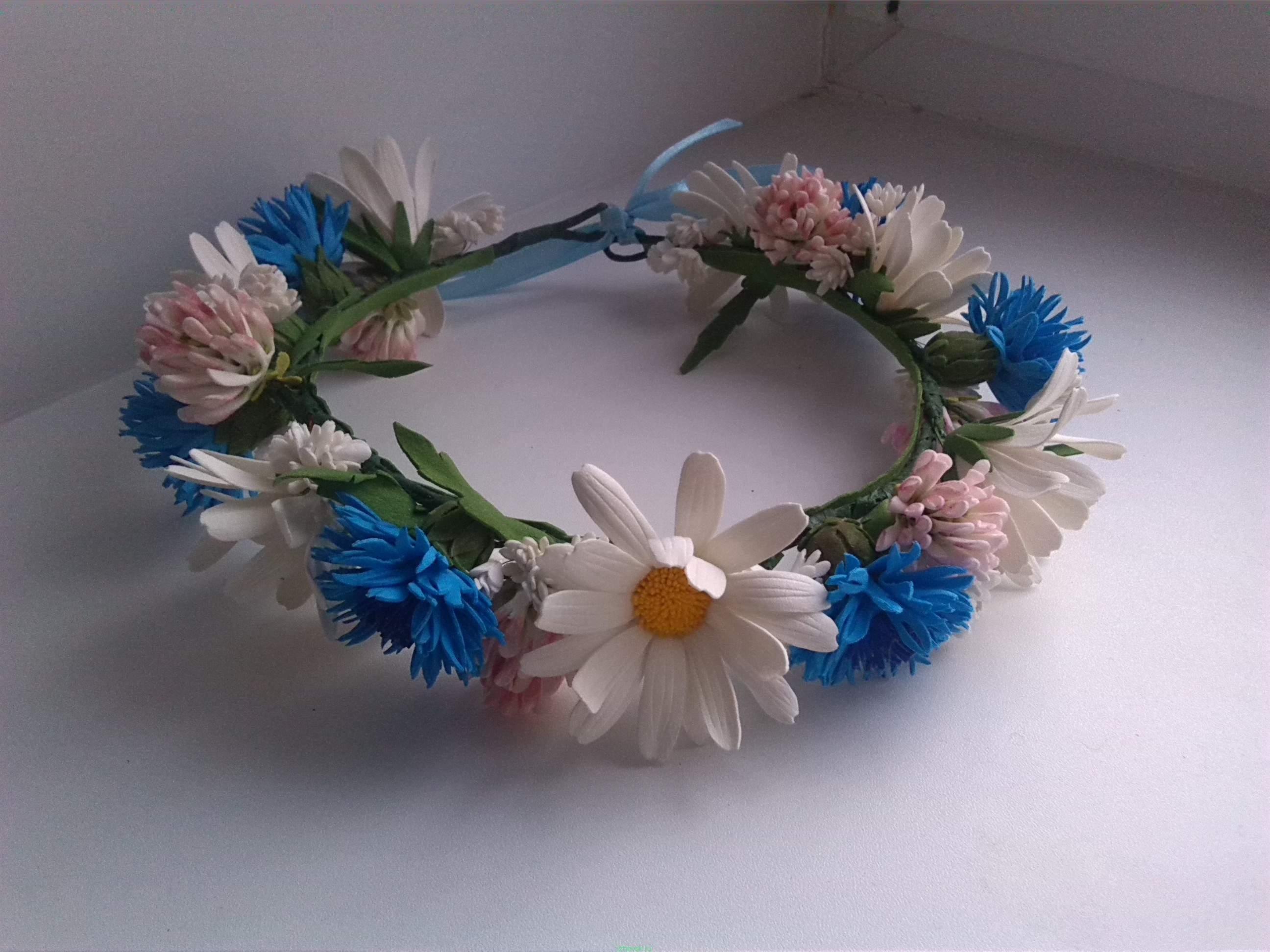 Цветы из фоамирана на ободок своими руками 80