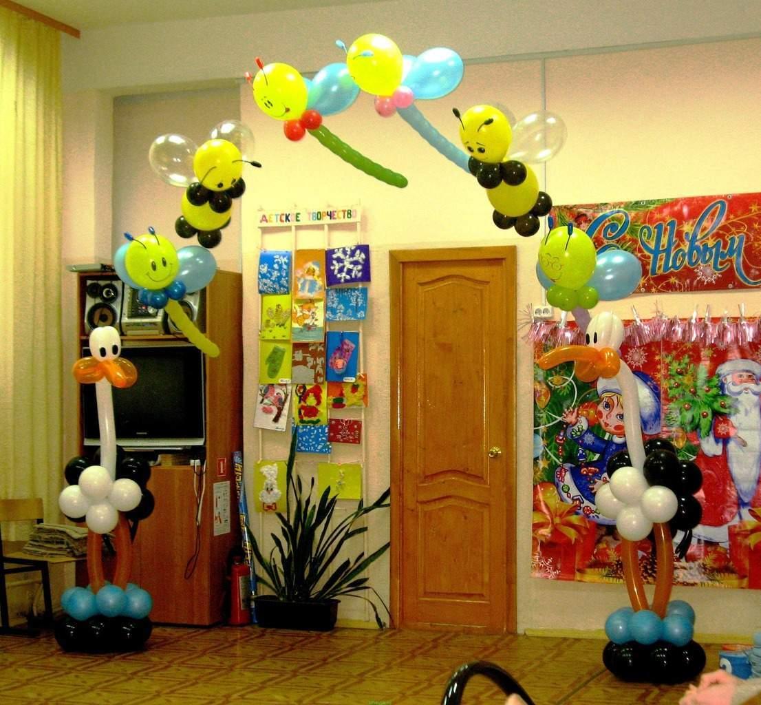 Оформления воздушными шарами своими руками детского праздника