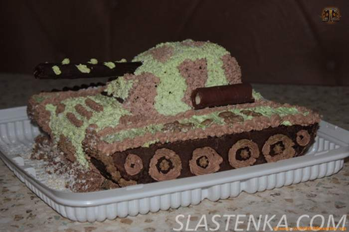 Торт танк своими руками фото