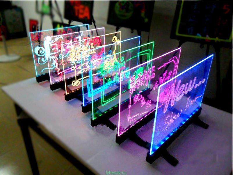 Рекламная световая панель своими руками