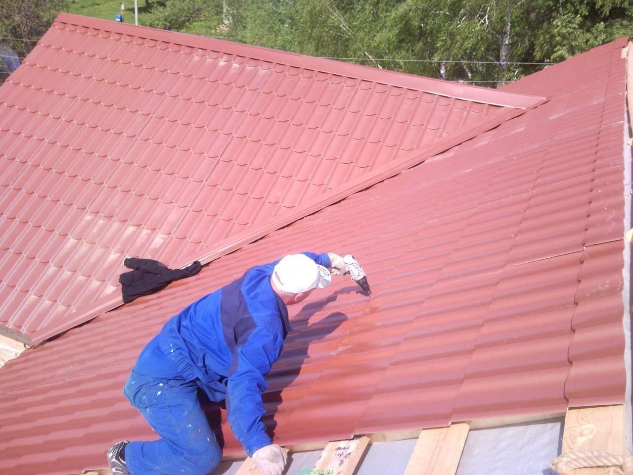 Как покрыть крышу беседки металлочерепицей своими руками