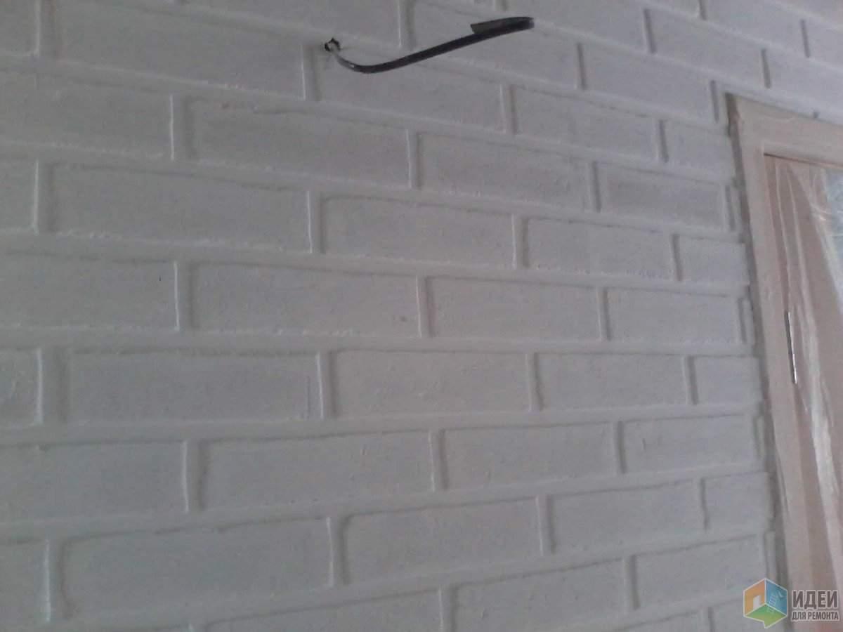 Имитация кирпичной стены из штукатурки своими руками