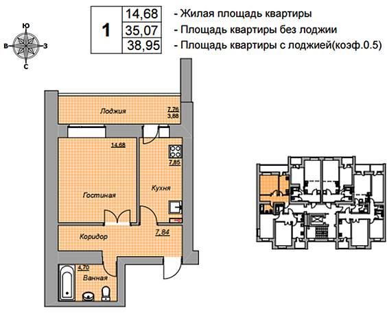 жилищная площадь или жилая