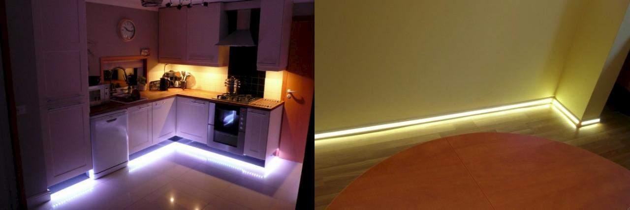 Светодиодная подсветка потолочных плинтусов своими руками