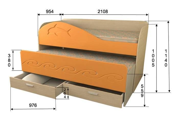 Кровать с выдвижным спальным местом своими руками чертежи 38