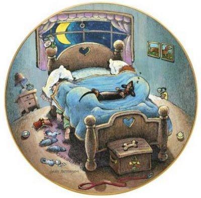 Открытка с кроватью