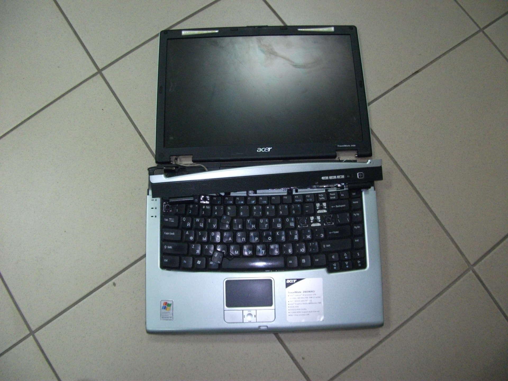 Ремонт ноутбука после падения в СПб