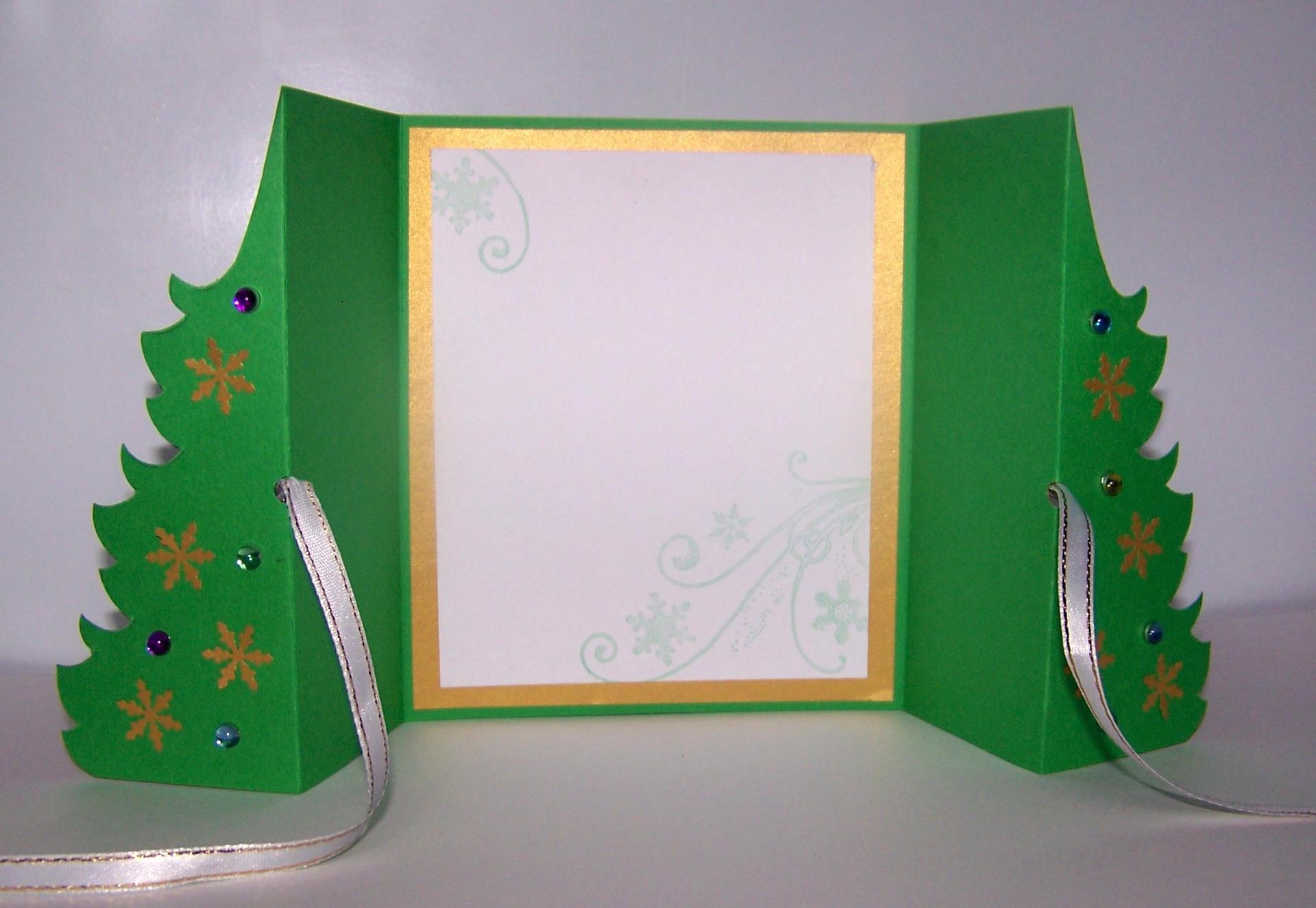 Как сделать открытку внутри с елочкой, открытки пожеланиями