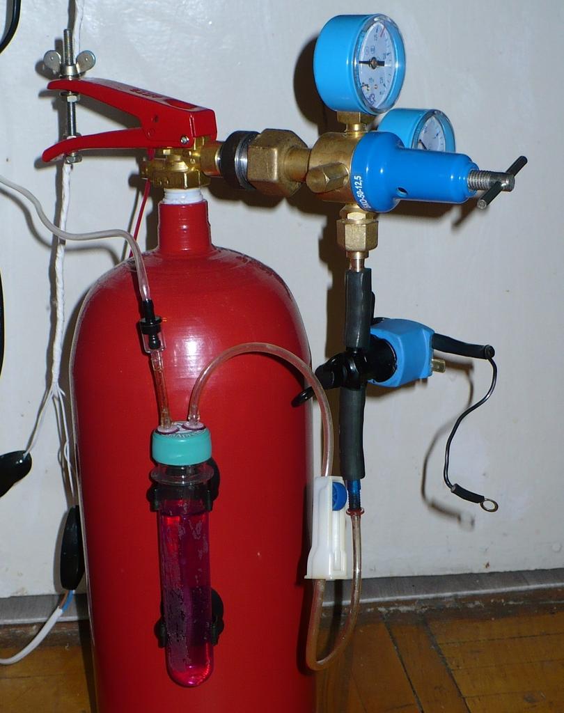 Как огнетушитель со2 для аквариума своими руками