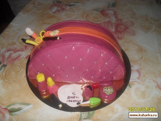 торт мастика косметичка фото