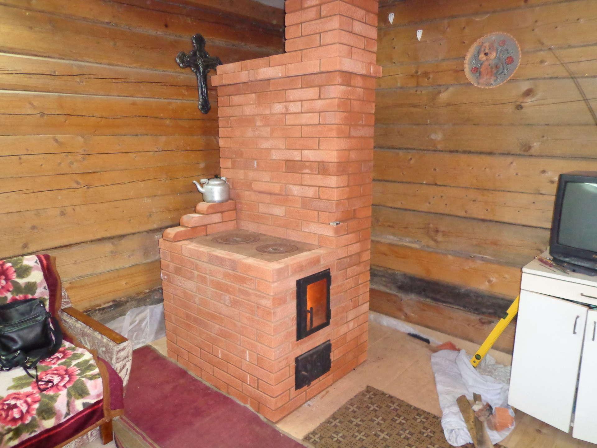 Печь каменная для дома своими руками