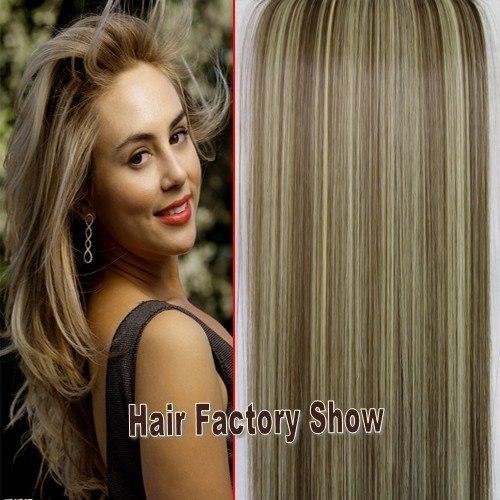 На светлые волосы коричневое мелирование