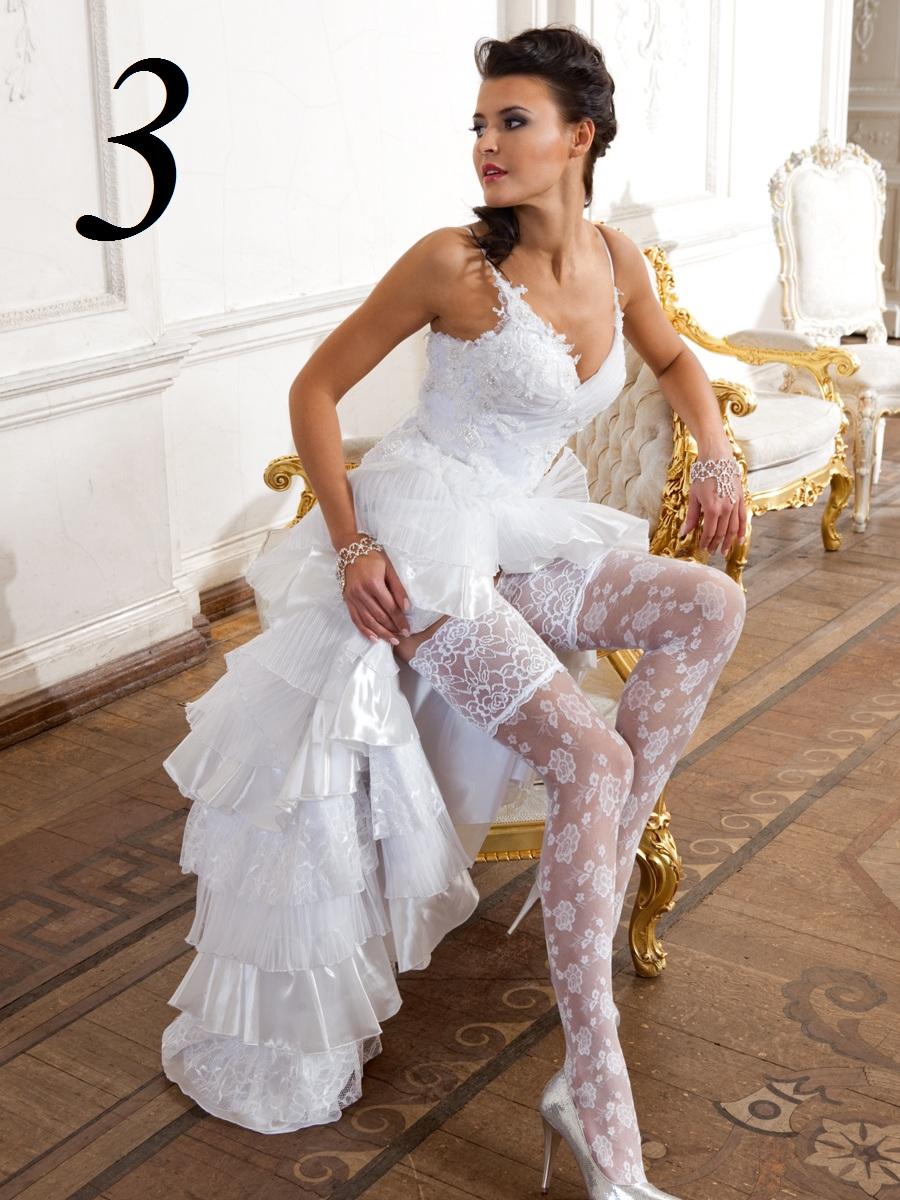 фото невесты в колготках