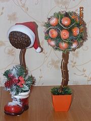 1920 X 2560 367.0 Kb Полезные подарки. (Декор новогодних бытылочек, топиарии,кофейные деревья, часы)