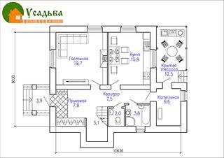 990 X 700 177.0 Kb Проекты уютных загородных домов