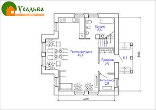 990 X 700 147.6 Kb Проекты уютных загородных домов