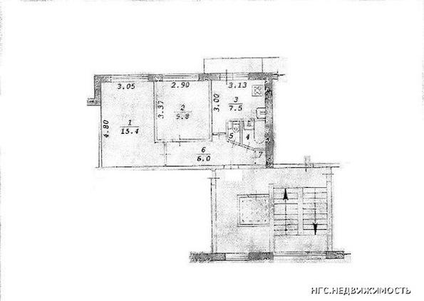 595 x 423 Перепланировка 3-х комнатной кв. 467 серия