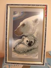 1536 X 2048 648.8 Kb Продам вышитую картину 'Северное сеяние' (белые медведи)