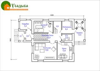1104 X 781 259.0 Kb Проекты уютных загородных домов