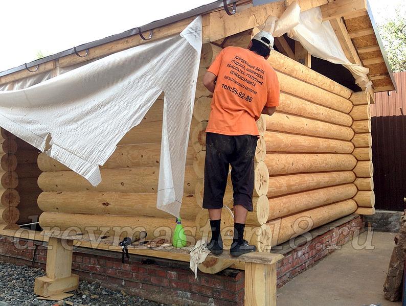 1000 X 755 336.2 Kb Шлифовка,покраска,конопатка, герметизация деревянных домов и бань.
