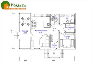 990 X 700 208.0 Kb Проекты уютных загородных домов