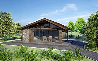 1280 X 800 260.0 Kb Проекты уютных загородных домов