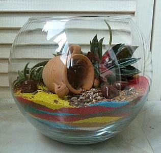 632 X 600 144.7 Kb 'Сад в стекле'. Композиции из растений.